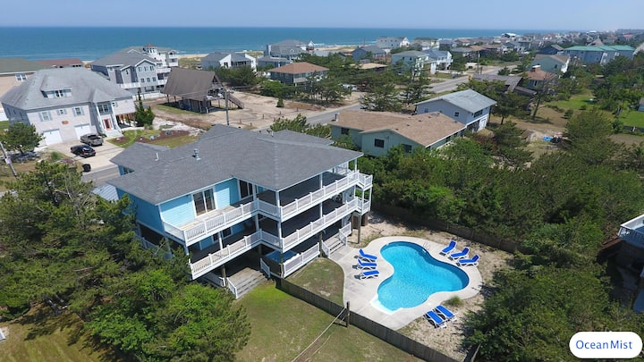 Huge Home steps from Ocean, Private Pool, Hot Tub