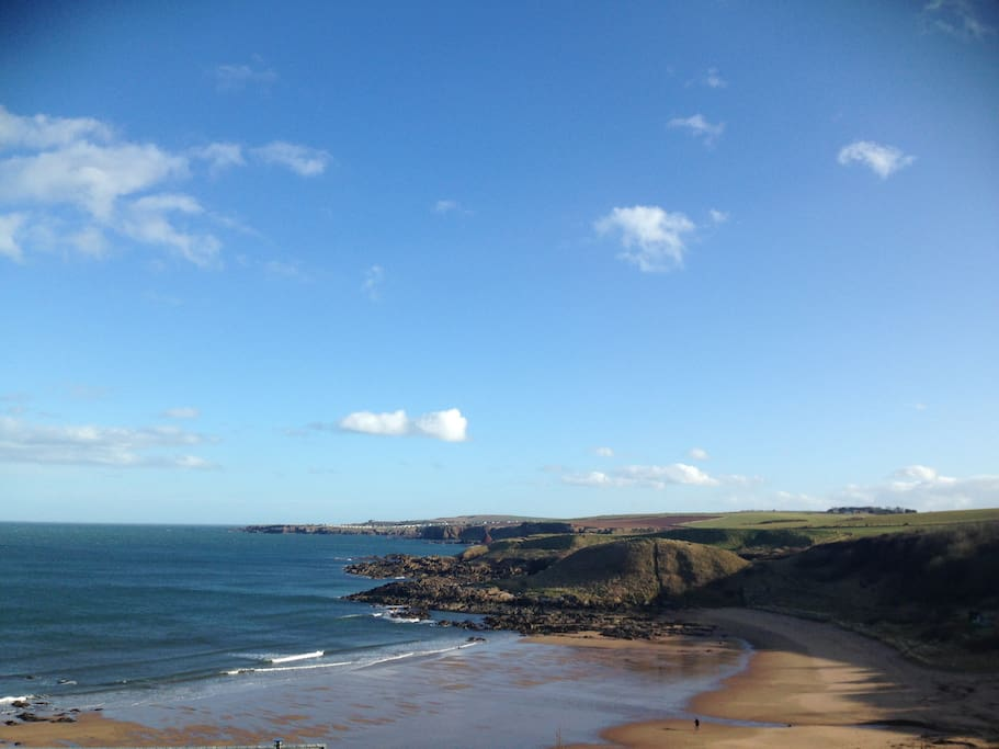 Fantastic beach and coastal walks.