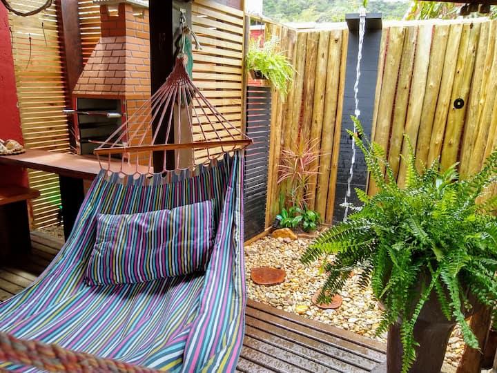 Casa de Praia C/Piscina e churrasqueira na varanda