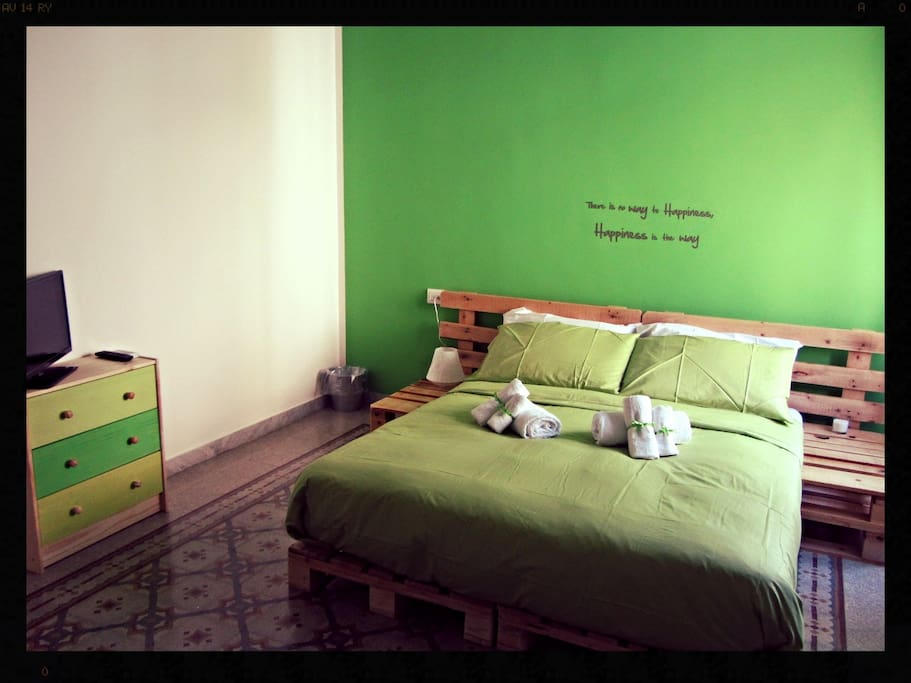 Stanza mela verde - green apple room