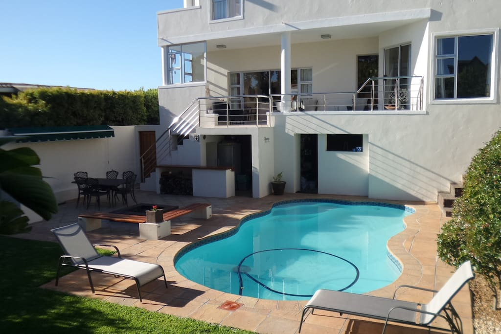 Pool and entertainment area.