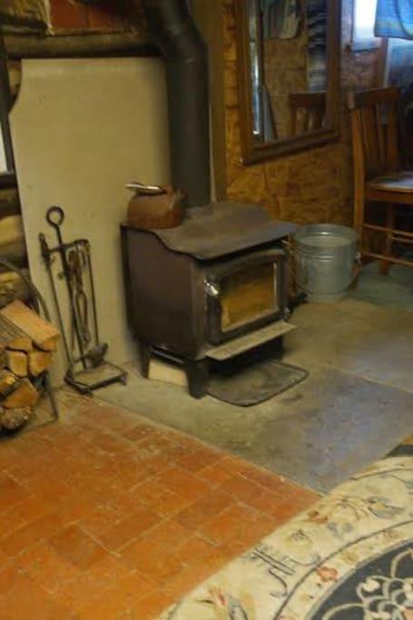 front brick floor room