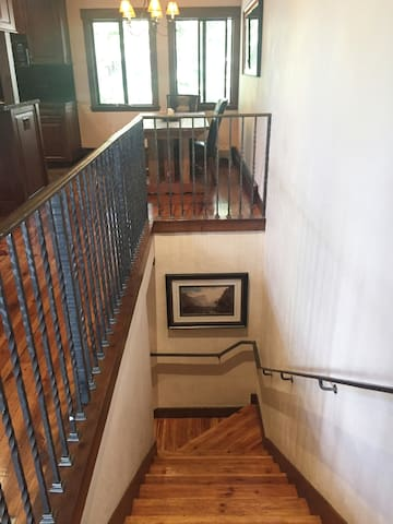 Stairs from second level to living area