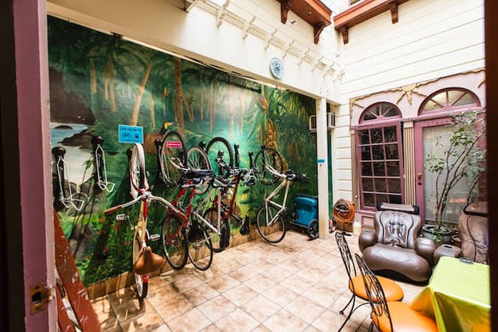 Free bike storage