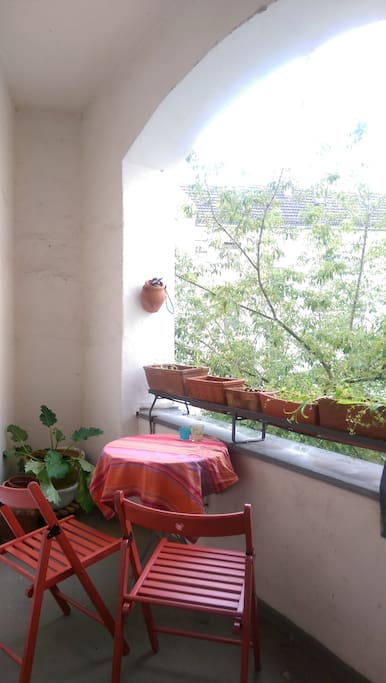 A small balcony at your room.