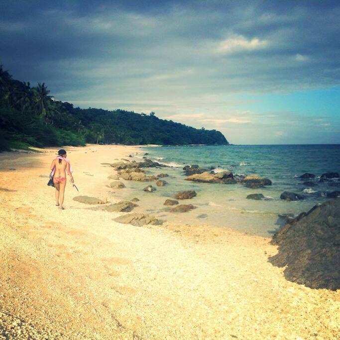 private sand beach