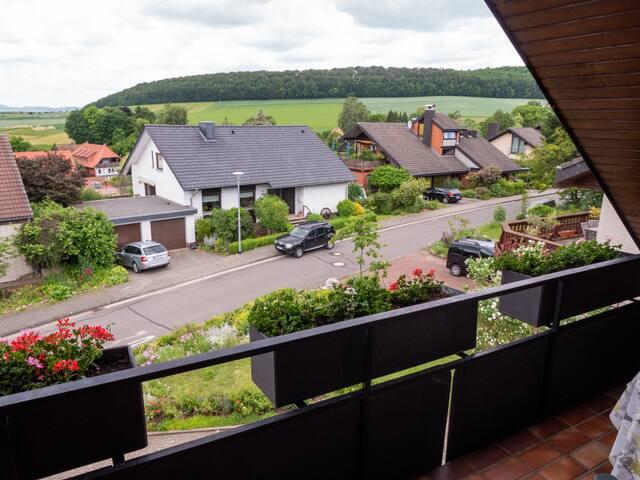 Blick von der Loggia Richtung Göttingen
