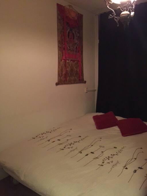 Sleep tight with the Buddha overlooking you-