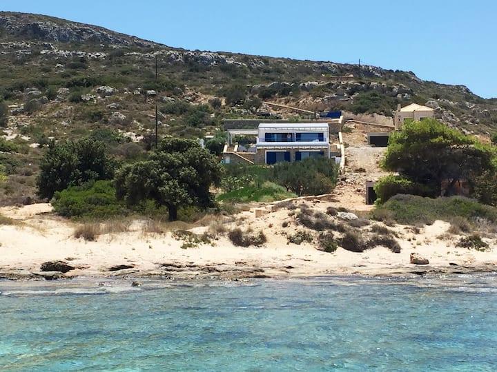 Modern Greek Villa on the Beach