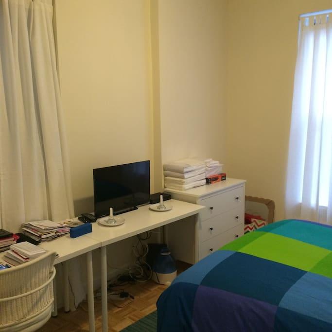 work area in the bedroom