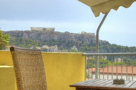 Studio for 3 with view in Athens - Athina
