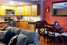 Kitchen/Dining/Living Area