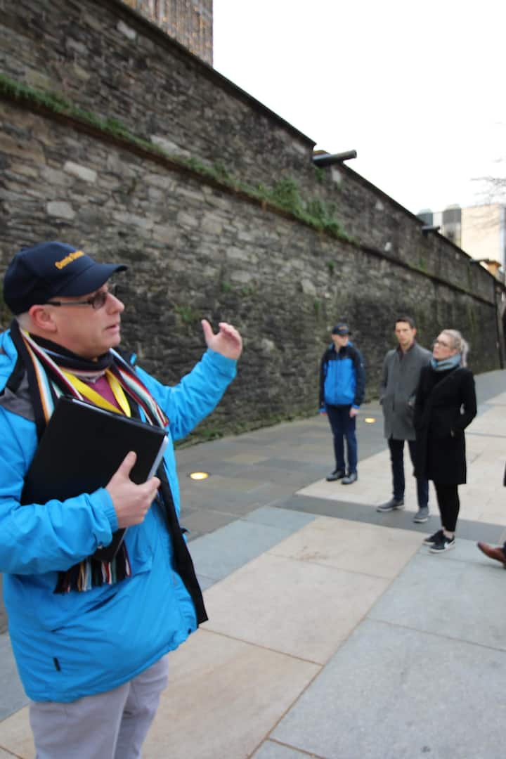 In front of Derry's Walls