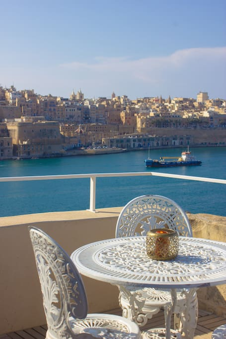 Valletta and Harbour Views Can Be Enjoyed by All Guests on the Roof Terrace
