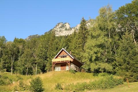 Petit chalet bois dans le massif de Chartreuse