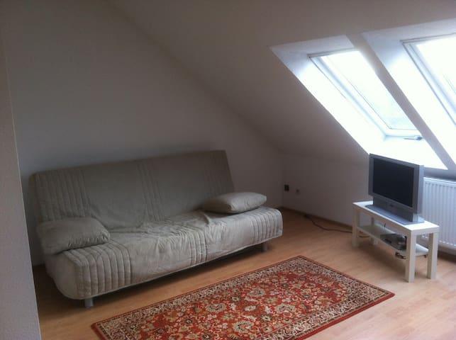 Fernseher und Couch (Klappbar für 2te Person)