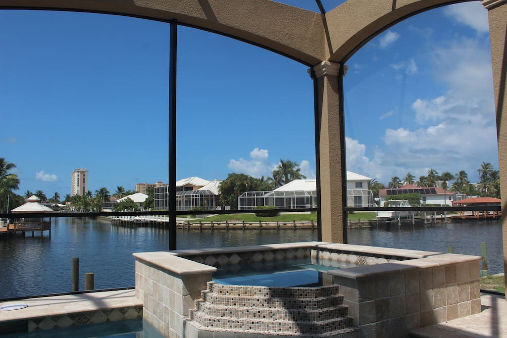 Relax in the Spa overlooking wide view canals & sunset!