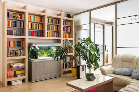 82m,2BR,2BA bidet,26th fl, metro, Airbnb PLUS stnd