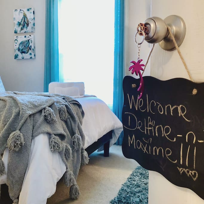 When you arrive, your name will be on your room door key for ease during your stay
