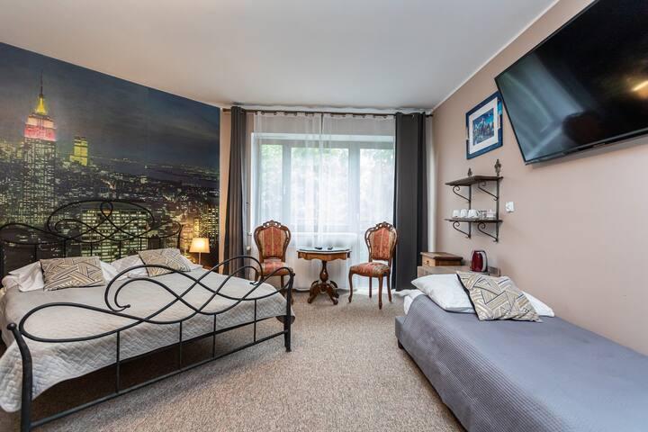 Trzyosobowy Pokój Hotel Free Breakfast