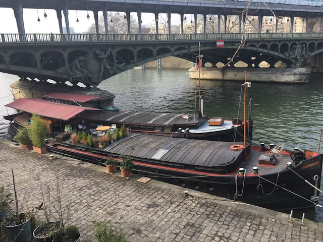 Studio on a houseboat next to the Eiffel Tower - Paris - Boot
