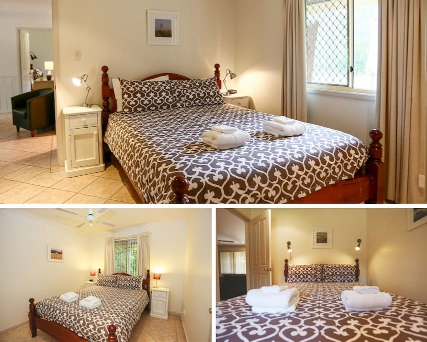 3 Bedrooms with queen sized beds