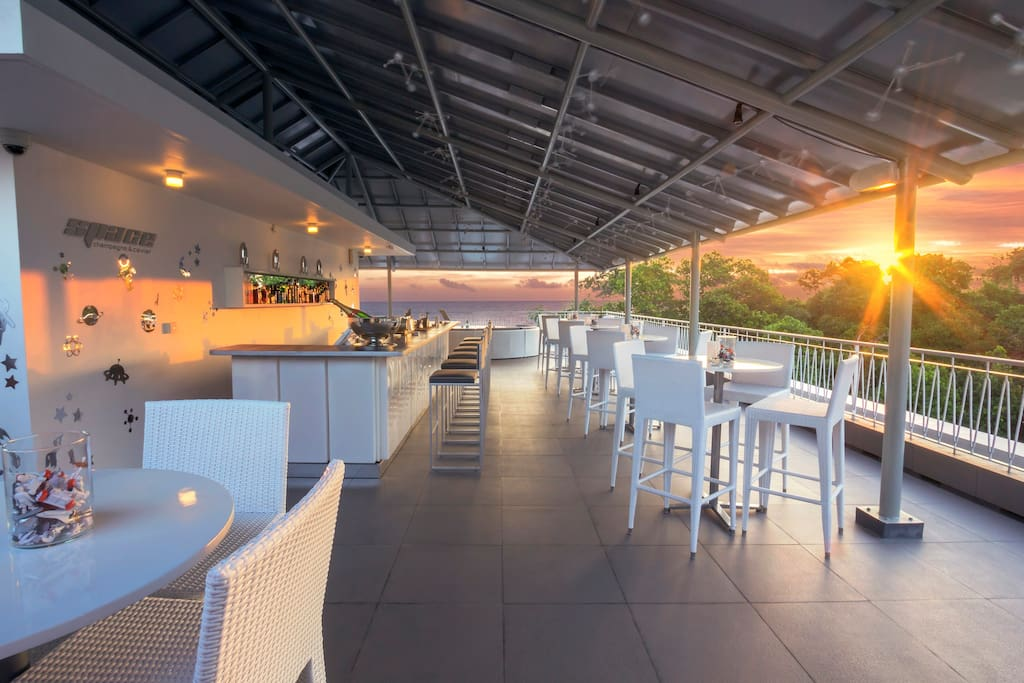 Space rooftop bar