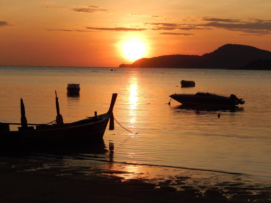 Sunrise in front of Condo