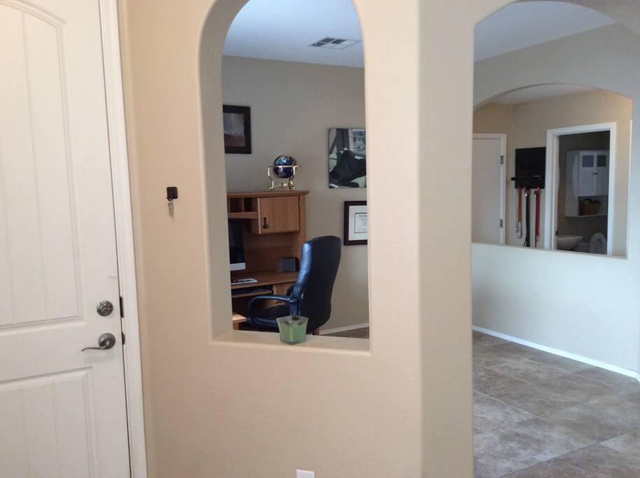Front Door and Den