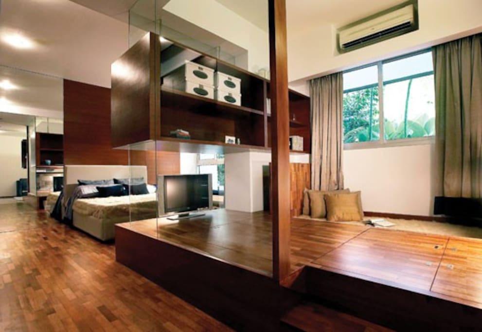 Artist Impression of Japanese Tatami room overlooking the Master en-suite
