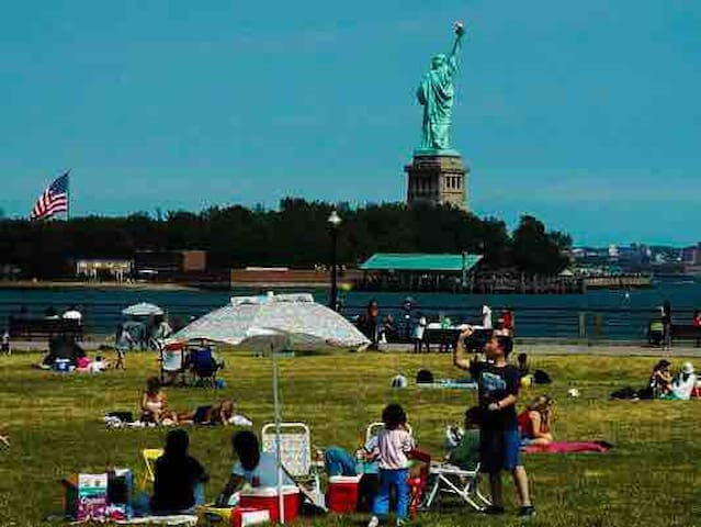 Ecological Preserve and park overlooking the stature of liberty