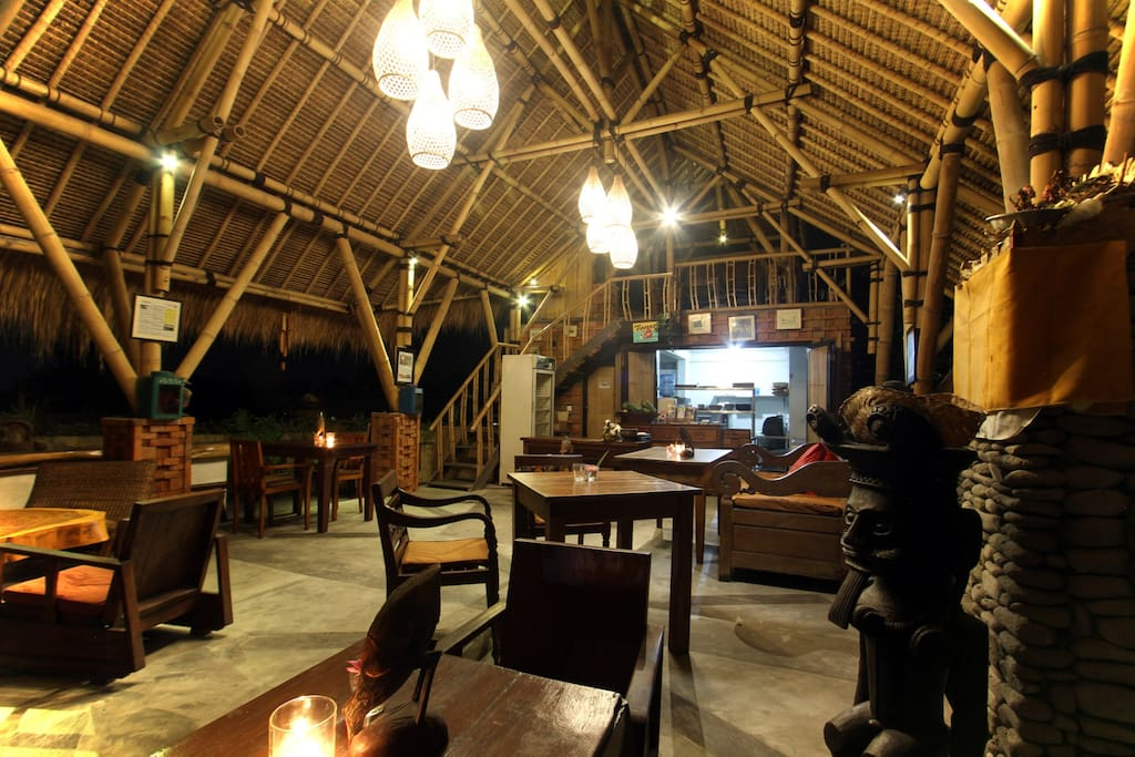 Our Small Restaurant in front of villa