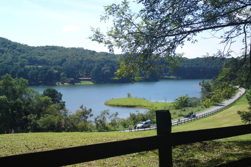 "Our house is located inside a ""gated community"" and has access to a lake and forest area."