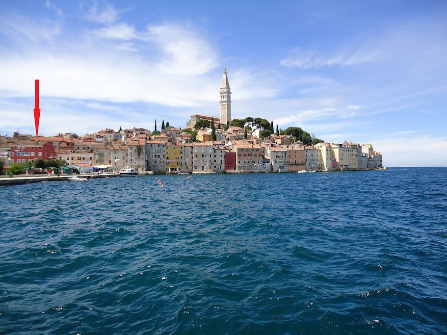 Apartment with the most beautiful sea view in Rovinj, right on the seafront in the Old Town Rovinj!