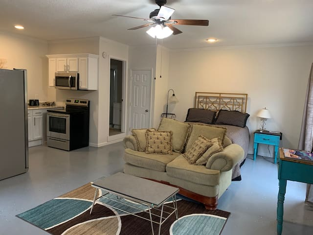 Main living space.  500 square feet of  open space