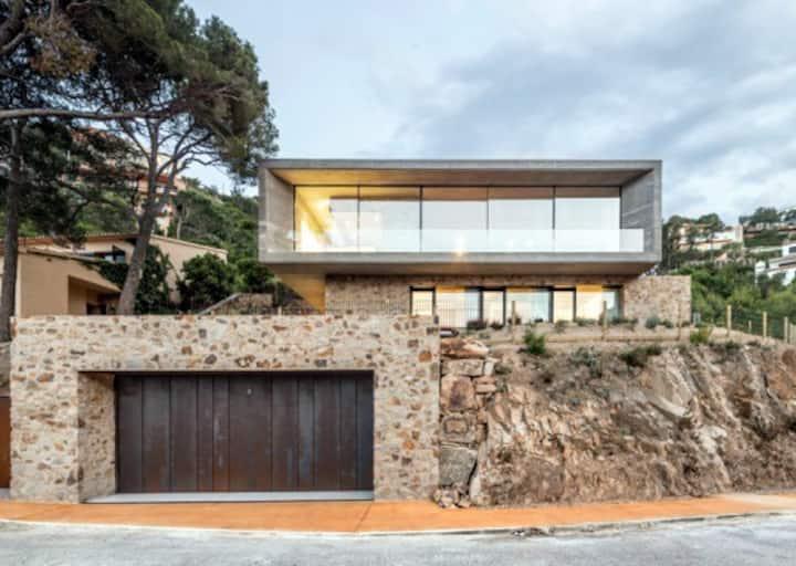 Can Rinel, modern designer villa, Aiguablava