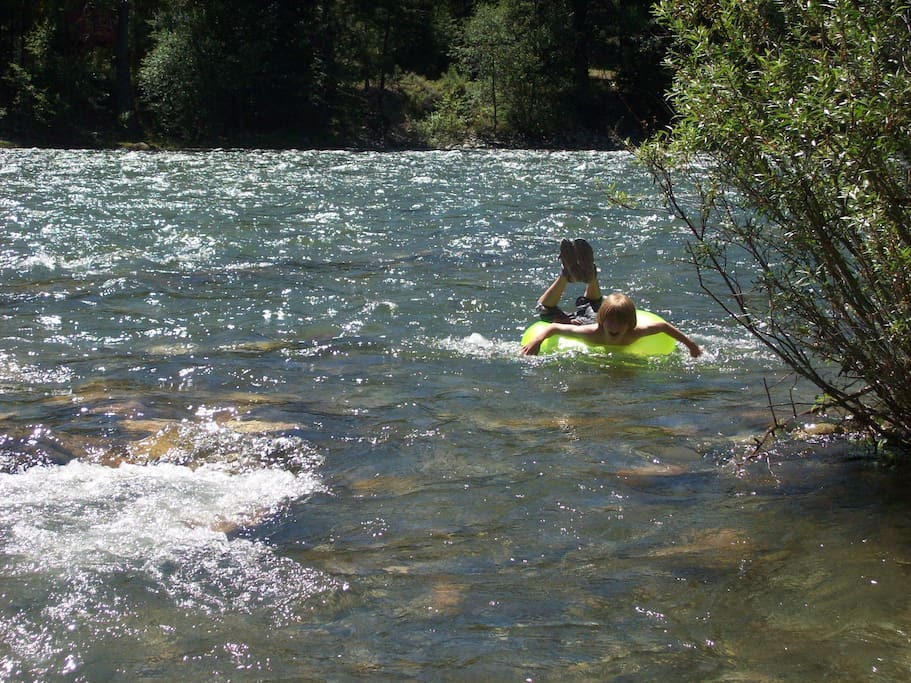 Floating the river, lots of fun!
