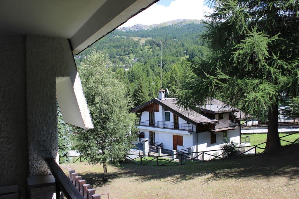 Vista dall'appartamento d'estate