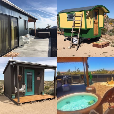Magical desert cabin, Gypsy wagon & Bunk house