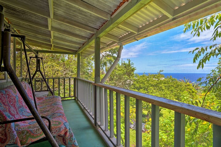 NEW! Unique Laupahoehoe Home w/Deck & Ocean Views!