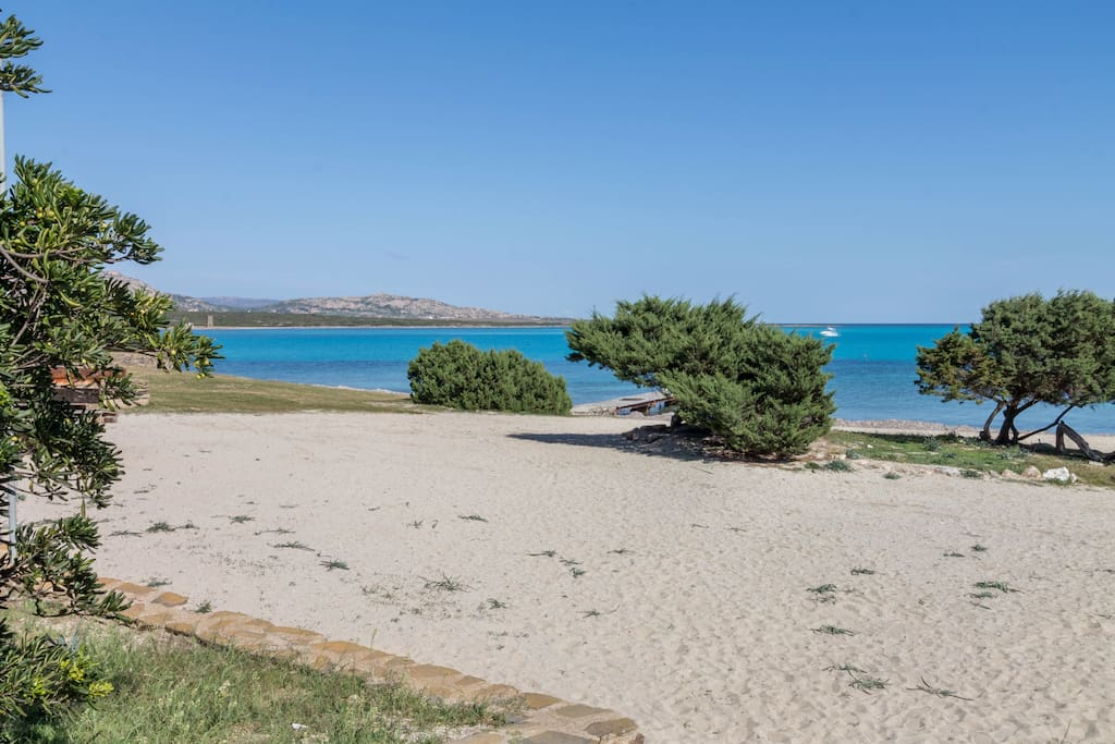 Beach in front of the Villa