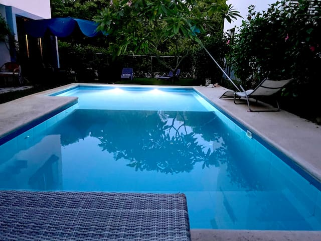 Playacar Five minute from the beach- pool private
