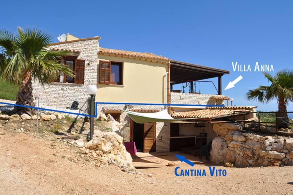 Villa Anna (Sopra) Cantina Vito (Sotto)