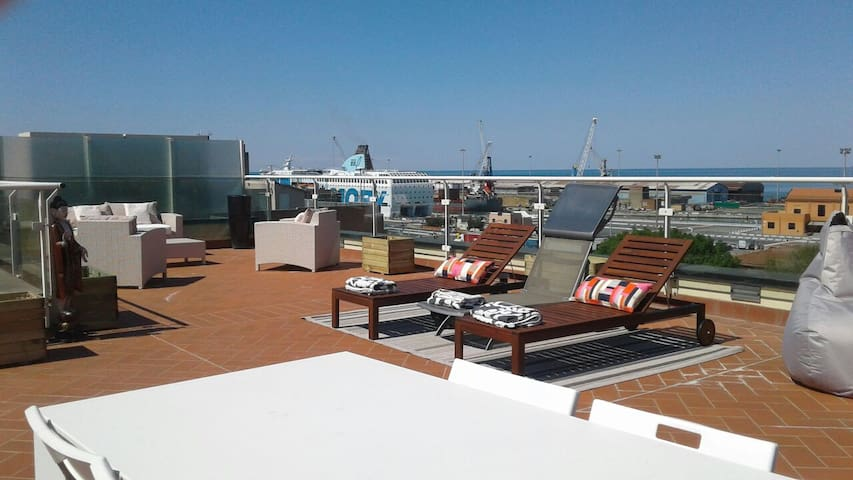 Unforgettable suite with gorgeous terrace! - Livorno - Flat