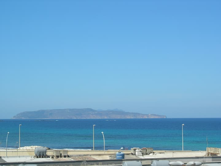 YOUR BALCONY  AZURE SEA OF TRAPANI