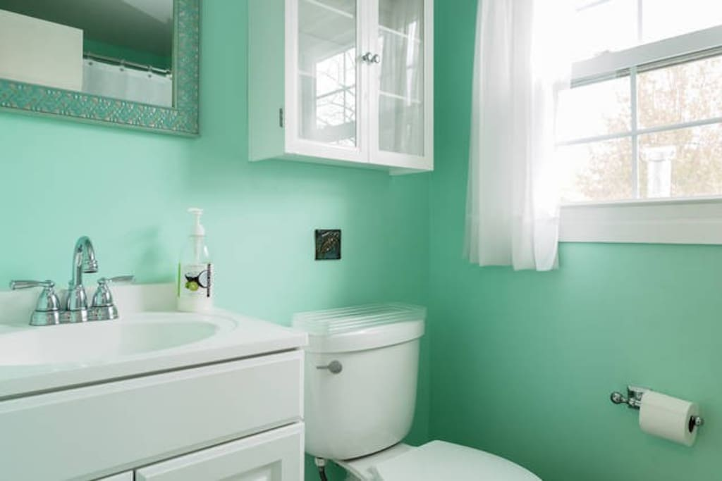 Beautifully renovated bathroom right next to your room.