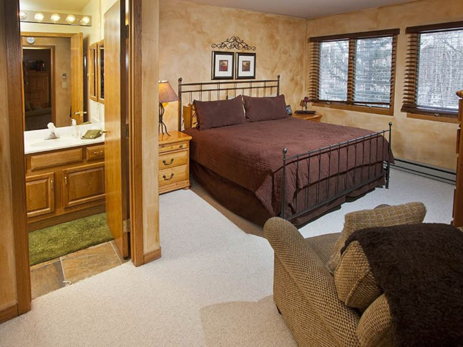 Master bedroom with master bath.