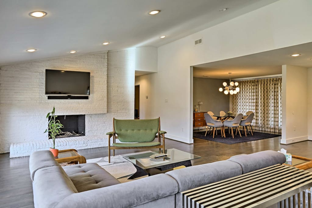 The open layout hosts over 2,000 square feet of stylish living space.