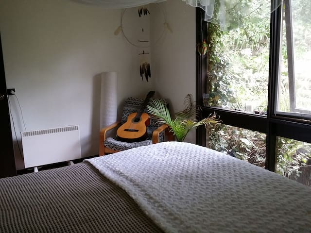 Bedroom in Hippie House