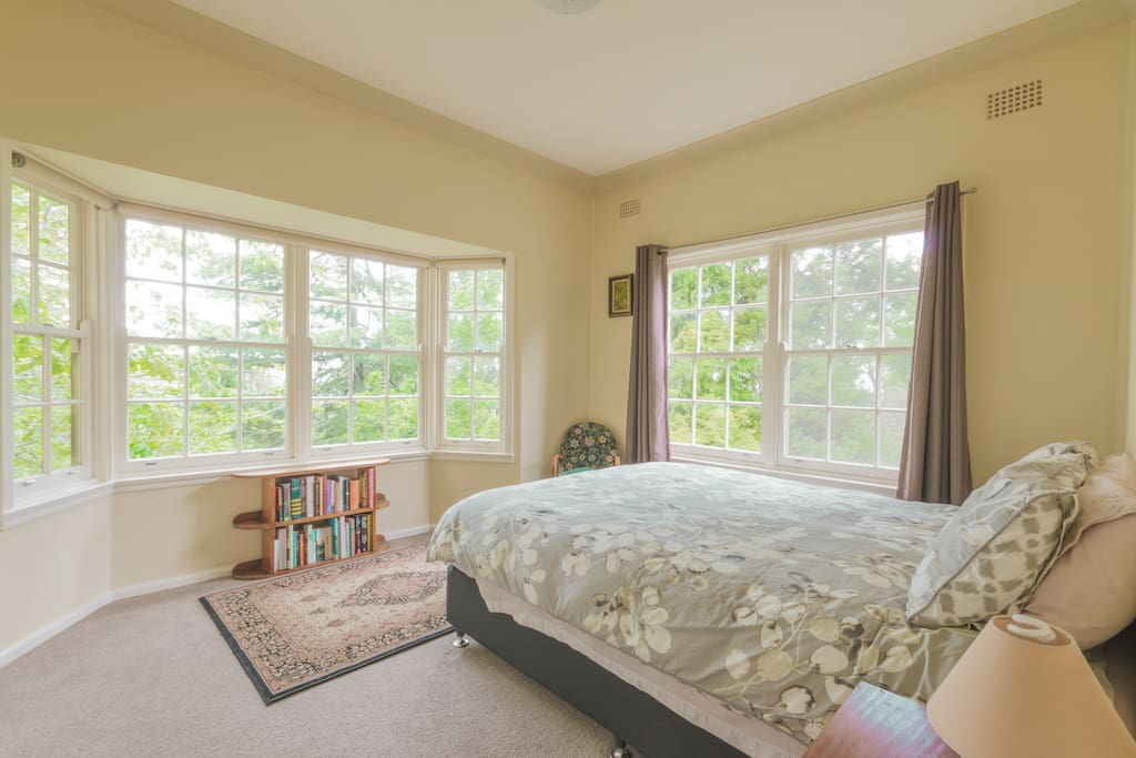 Private garden views from every bedroom